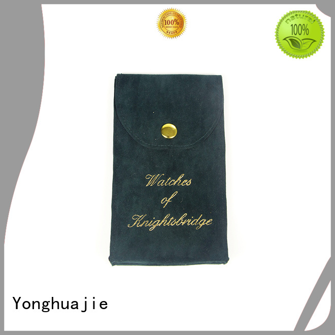 Yonghuajie printed velvet pouch at discount for watch packing