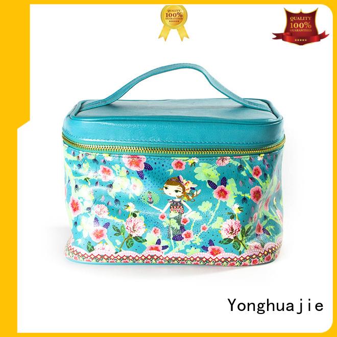 Quality Yonghuajie Brand soft leather makeup bag