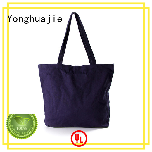 Quality Yonghuajie Brand personalized canvas tote bags strong tote