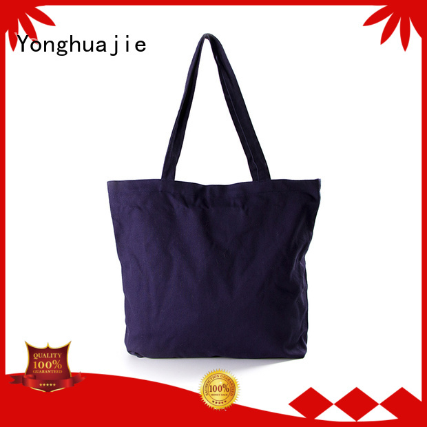 Hot bag personalized canvas tote bags strong Yonghuajie Brand
