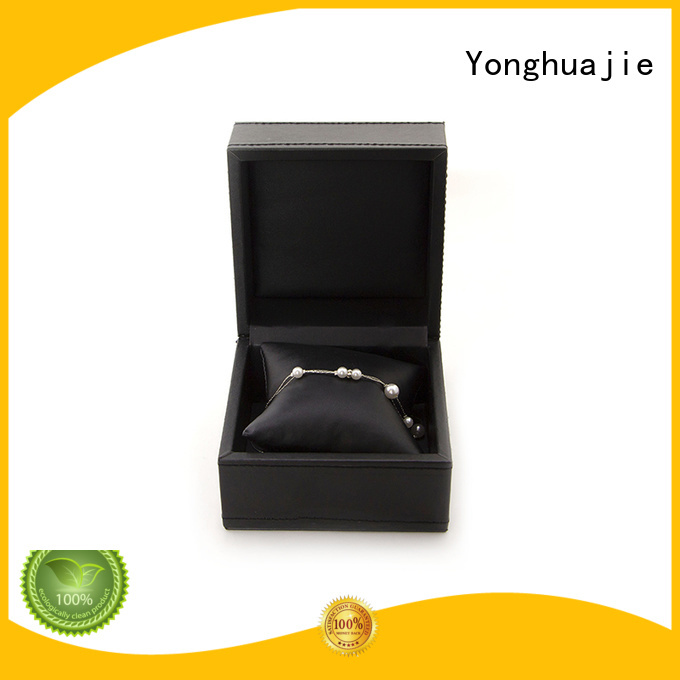 watch leather pu black Yonghuajie Brand leather box supplier