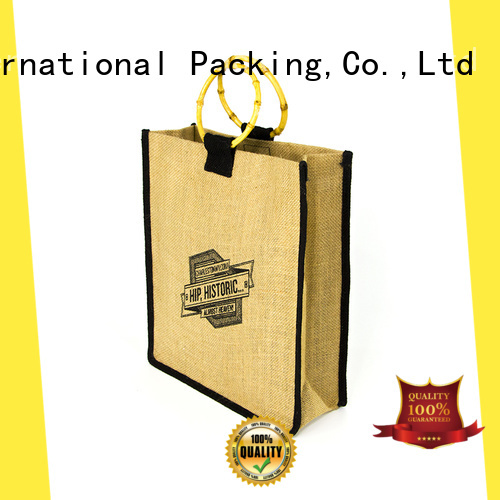 Yonghuajie new arrival personalised jute bags jute wine bag at discount for wine