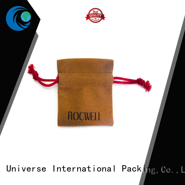 customized durable grey suede bag                                                                                                                                                                 suede jewelry pouch