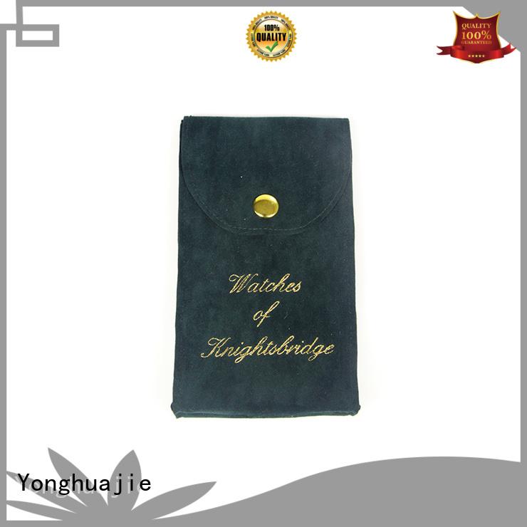 Yonghuajie design velvet makeup bag purple for packing