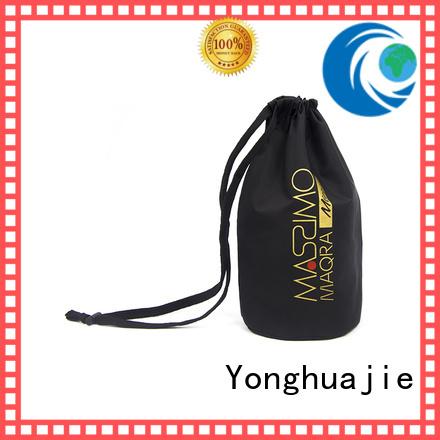 digital nylon drawstring bag with handle for cosmetics