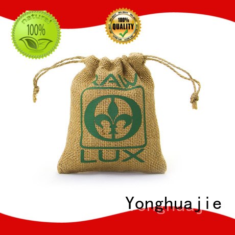 Yonghuajie natural material custom shopping bags at discount for storage