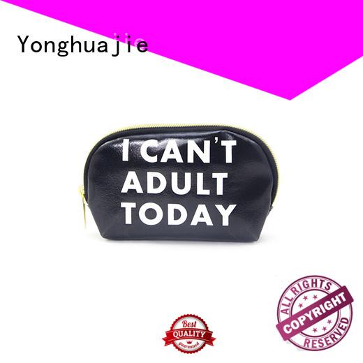 printed order pu leather makeup bag zipper Yonghuajie Brand