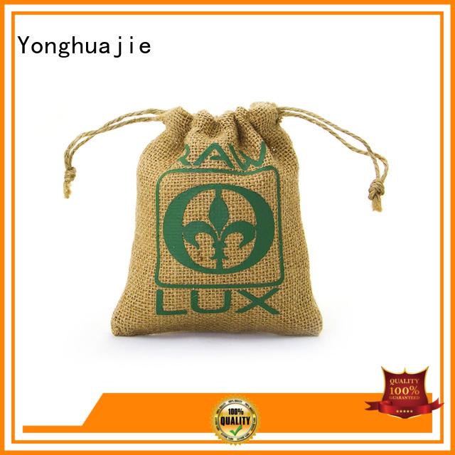 Wholesale tote logo jute sack                                                                                                                                                                                               jute shopping bag Yonghuajie Brand