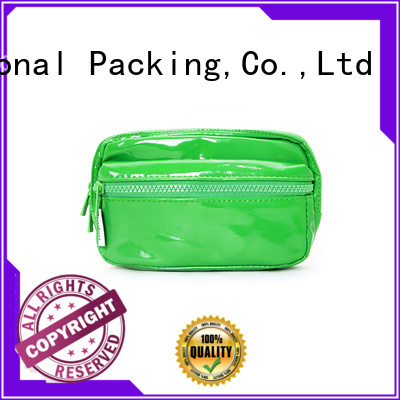 leather cosmetic pouch packing bag black Yonghuajie Brand