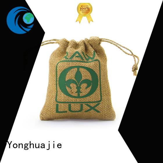 Hot natural jute sack                                                                                                                                                                                               jute shopping bag logo bag Yonghuajie Brand