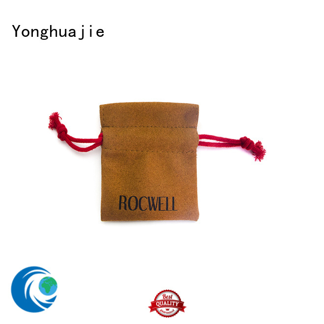 Yonghuajie envelope grey suede bag suede jewelry pouch suede drawstring bag highly-rated for students