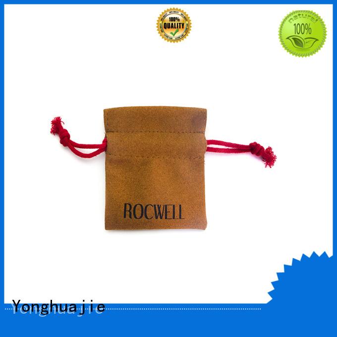 Yonghuajie Brand durable drawstring custom suede flap bag