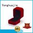 high-quality crushed velvet box velvet ring box small for jewelry Yonghuajie