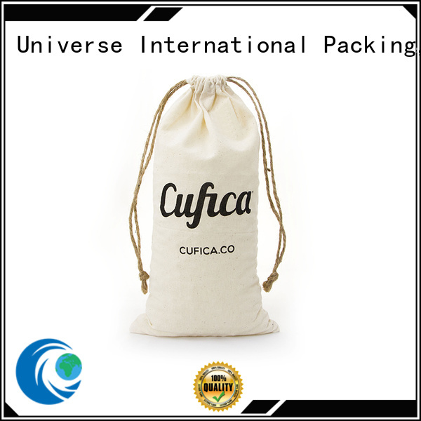 cotton shopping bags with zipper for packaging