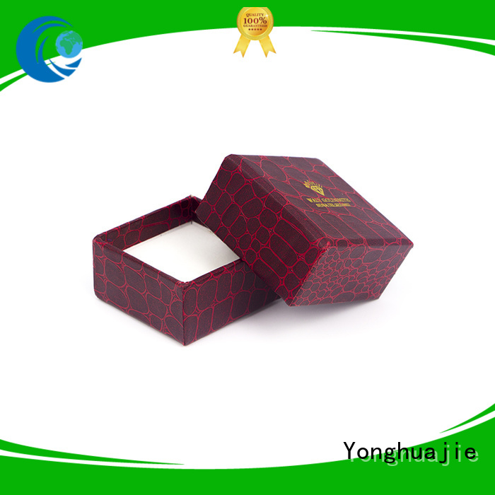 Yonghuajie design paper jewellery box thick for watch packing