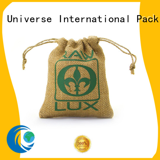 Yonghuajie drawstring personalised jute bags for wholesale for packing