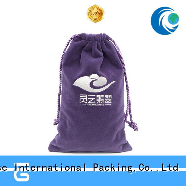 purple velvet makeup bag best factory price for packing