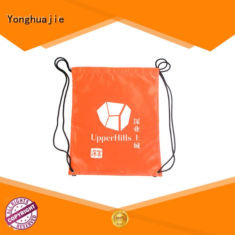 Hot nylon drawstring bag plain Yonghuajie Brand