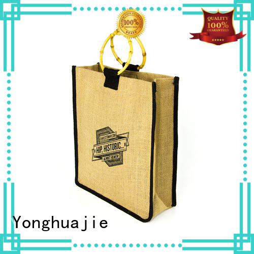 Yonghuajie new arrival jute sack jute shopping bag free sample for wine