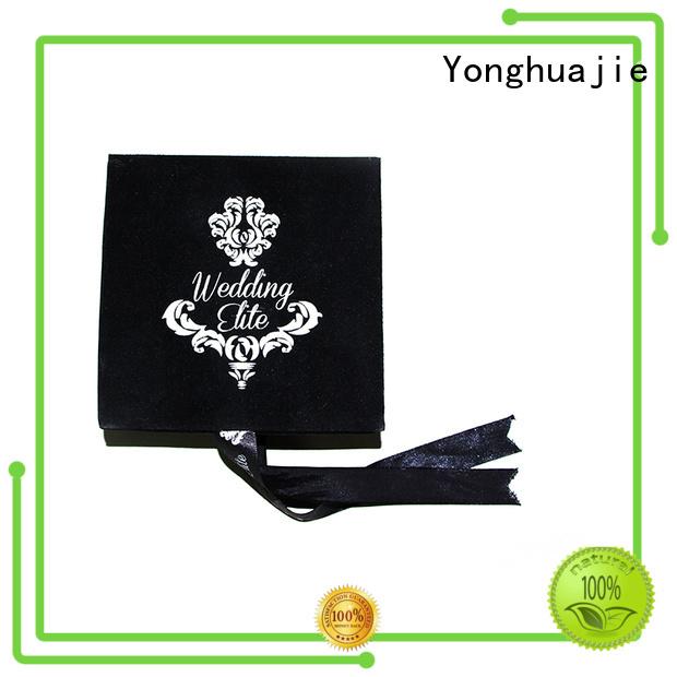 Yonghuajie custom crushed velvet box velvet ring box fast delivery