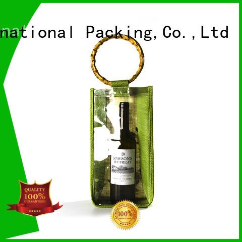 jute gift bags bamboo handle for storage Yonghuajie