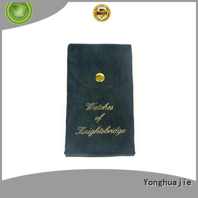 Quality Yonghuajie Brand velvet jewelry bag gift