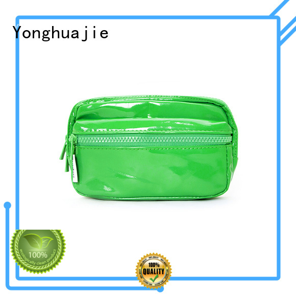printed cosmetic pouch Yonghuajie Brand leather cosmetic pouch factory