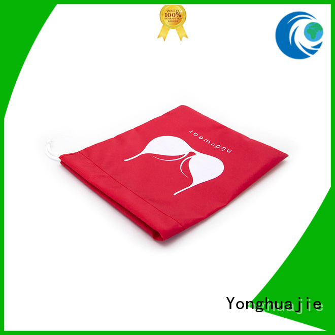 silk drawstring orange nylon drawstring bag plain Yonghuajie