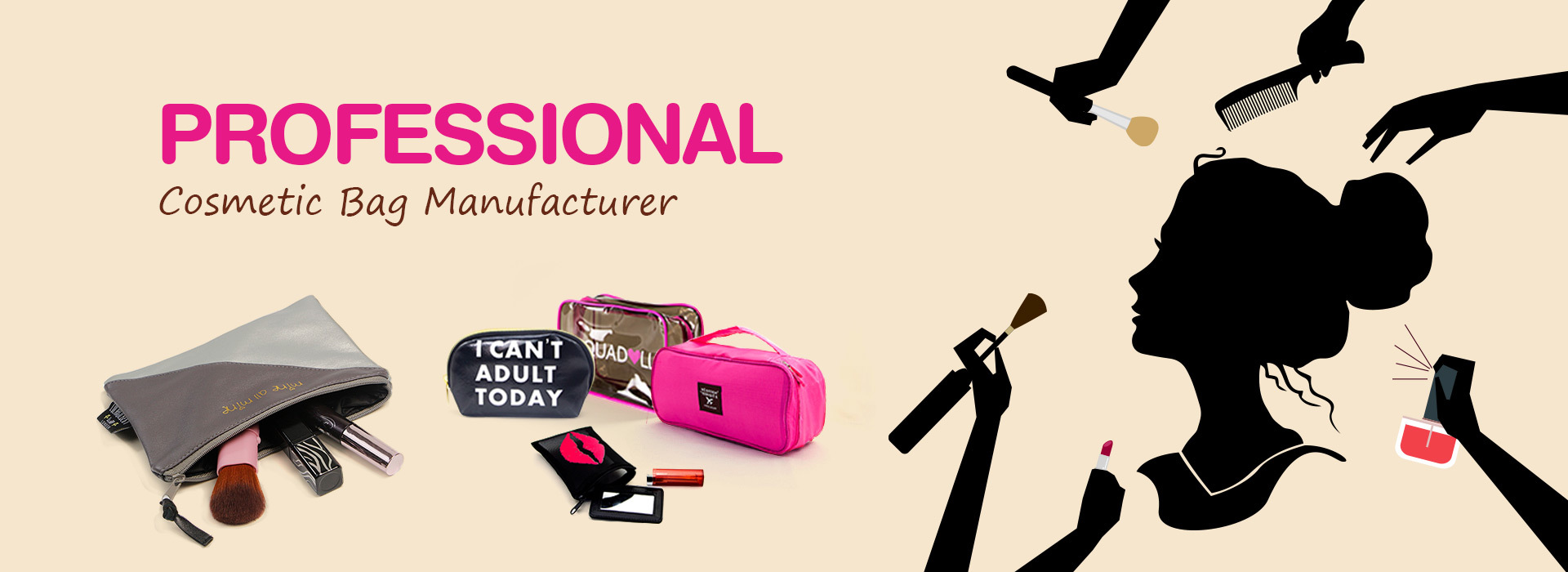 cosmetic bag manufacturer, makeup bag manufacturers, cosmetic bag suppliers