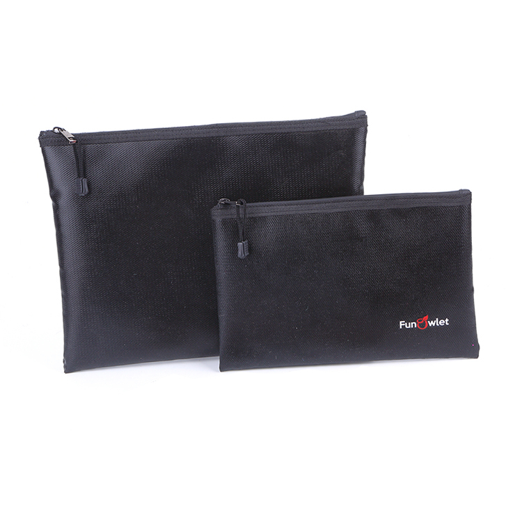 Fireproof document Bag waterproof storage zipper bag