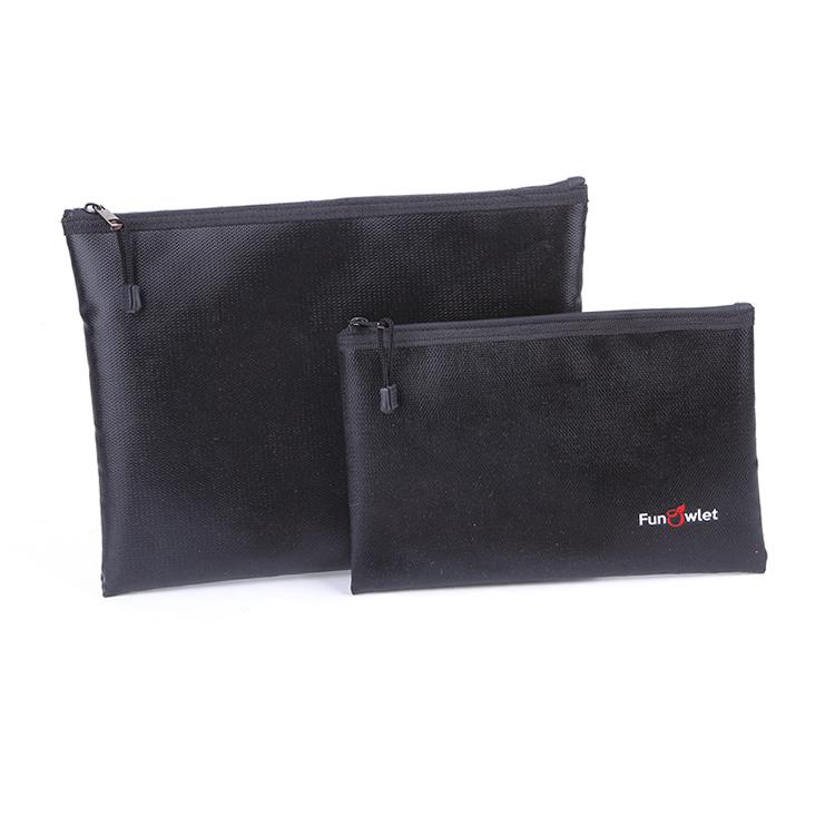 Fireproof document Bag waterproof storage zipper bag