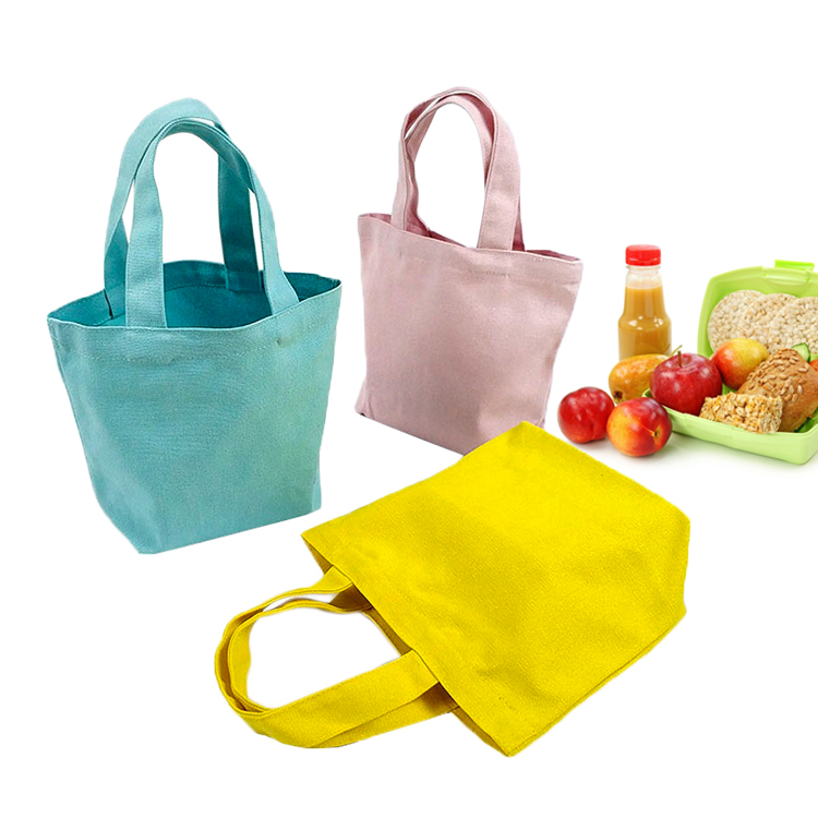 Canvas storage lunch box tote bag