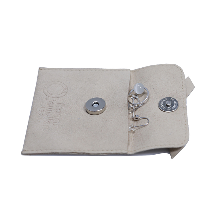 hot-sale grey suede bag suede jewelry pouch suede drawstring bag new arrival Supply for present-4