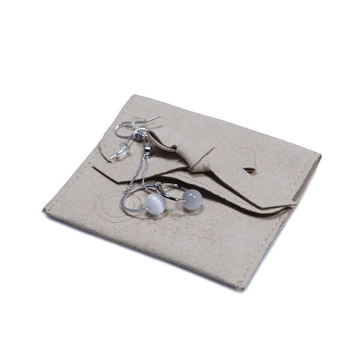 hot-sale grey suede bag suede jewelry pouch suede drawstring bag new arrival Supply for present-5
