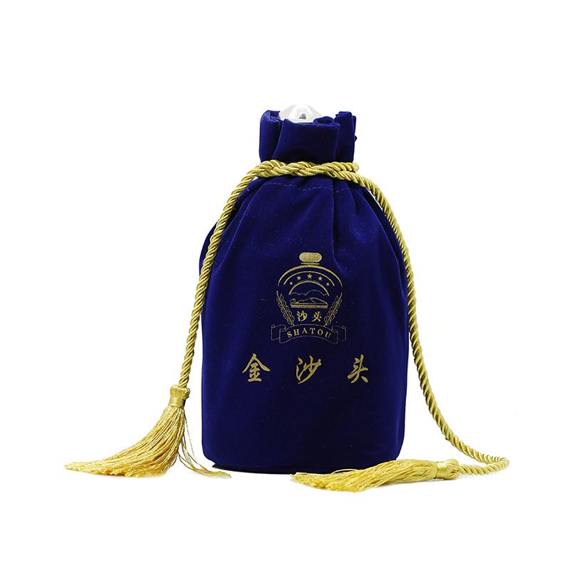 Wine velvet bag