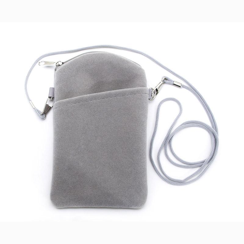 Velvet phone pouch