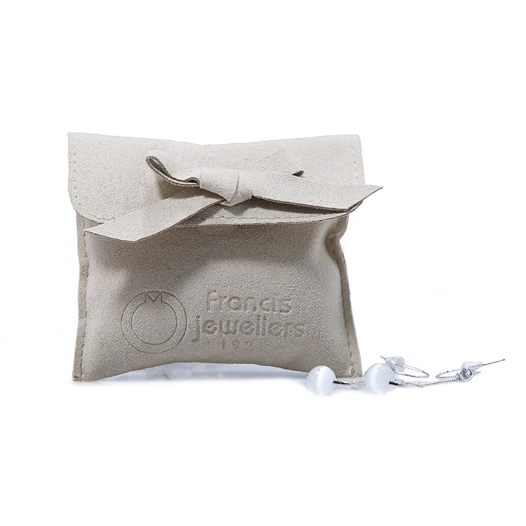 hot-sale grey suede bag suede jewelry pouch suede drawstring bag new arrival Supply for present-3