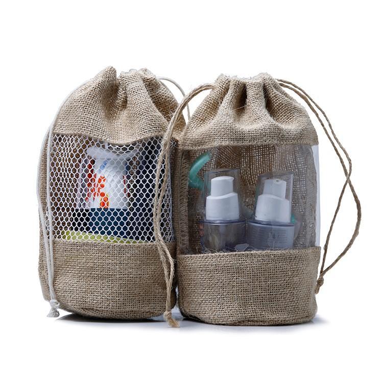 Yonghuajie bamboo handle jute tote bag free sample for storage-3