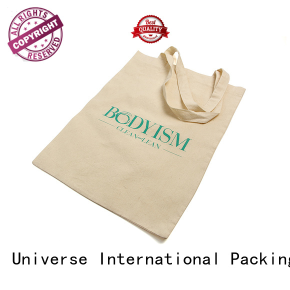 reusable printed cotton bags with zipper for storage