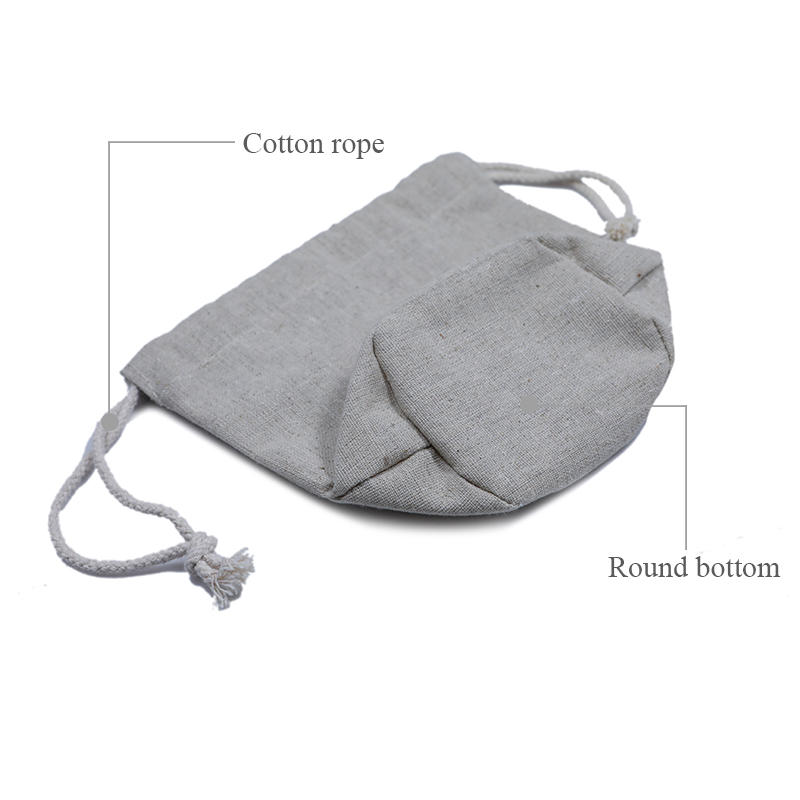Yonghuajie natural linen pouch linen drawstring bag top-selling for students-2