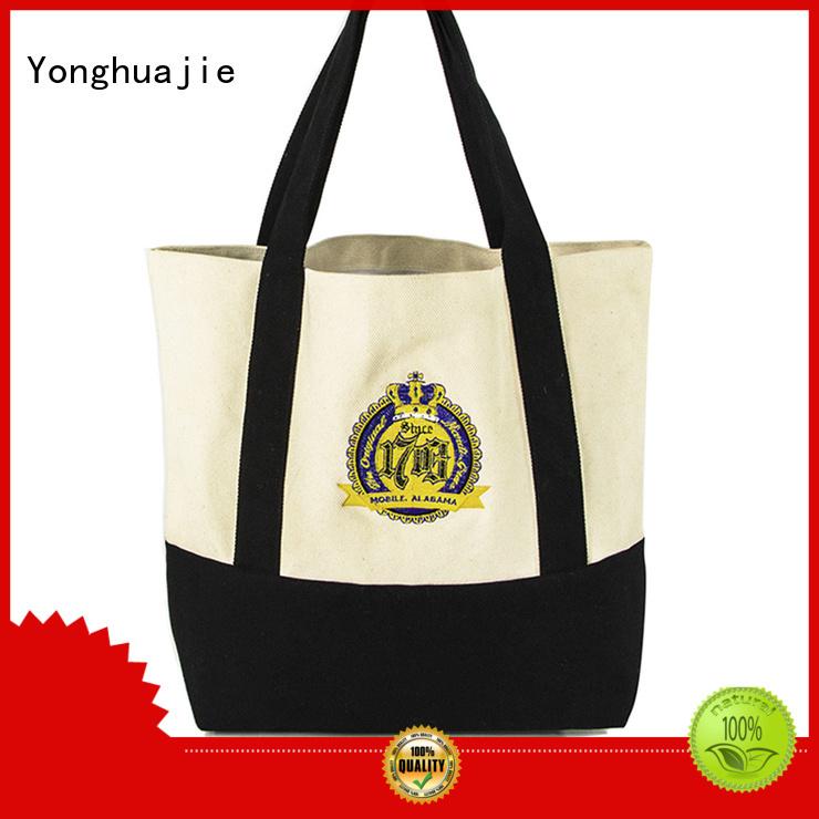 Yonghuajie best design black tote handbag for travel