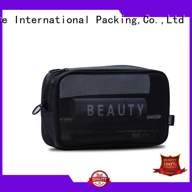 drawstring mesh shopping bags black for gift Yonghuajie