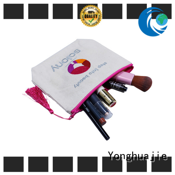 Yonghuajie drawstring wholesale canvas bags glitter for cosmetic