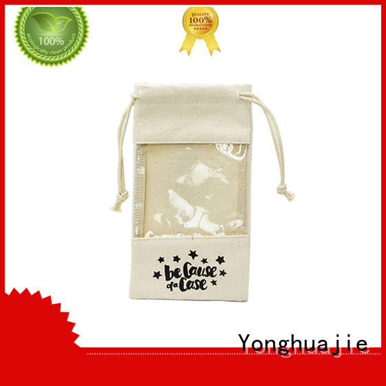 lamination white canvas bag small canvas tool bag star printed for packaging Yonghuajie