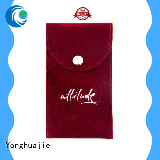 purple velvet jewellery pouches top manufacturer for gift Yonghuajie