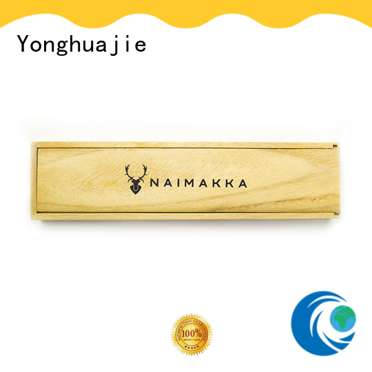 free sample wooden display box for goods Yonghuajie