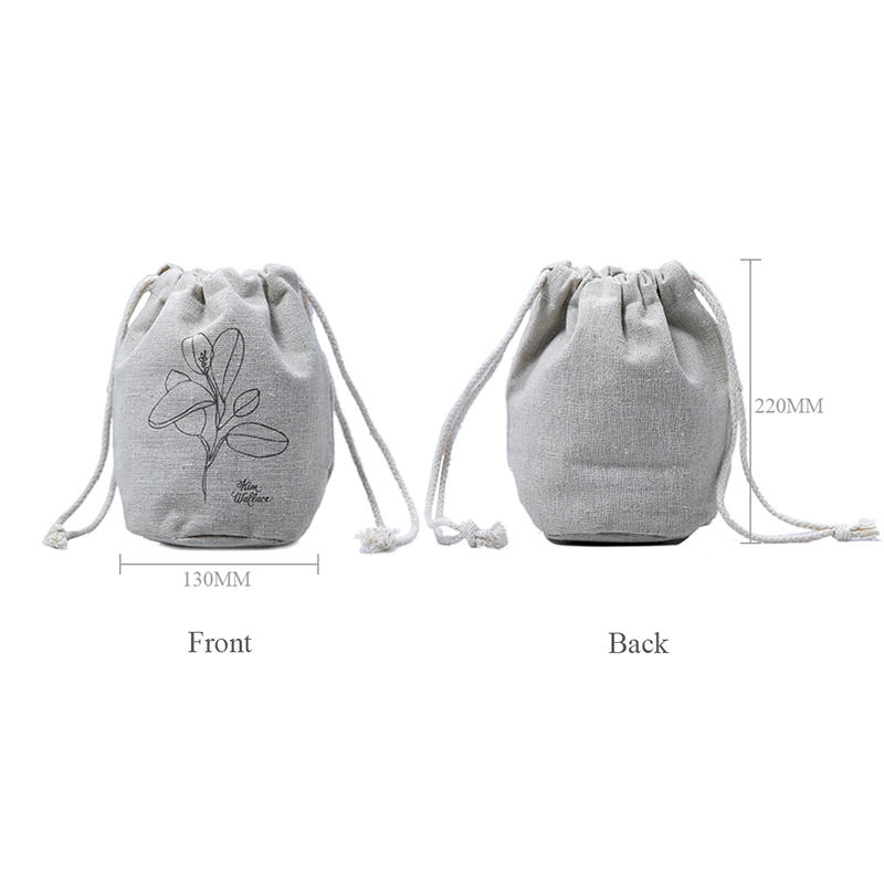 Yonghuajie natural linen pouch linen drawstring bag top-selling for students-1