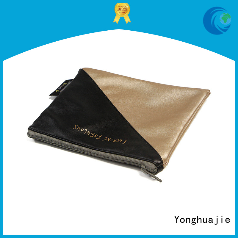 leather makeup pouch pu leather Yonghuajie