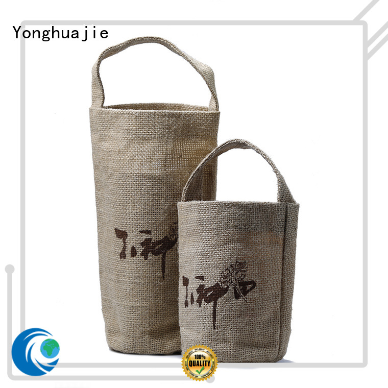Yonghuajie new arrival jute shopping manufacturers for storage