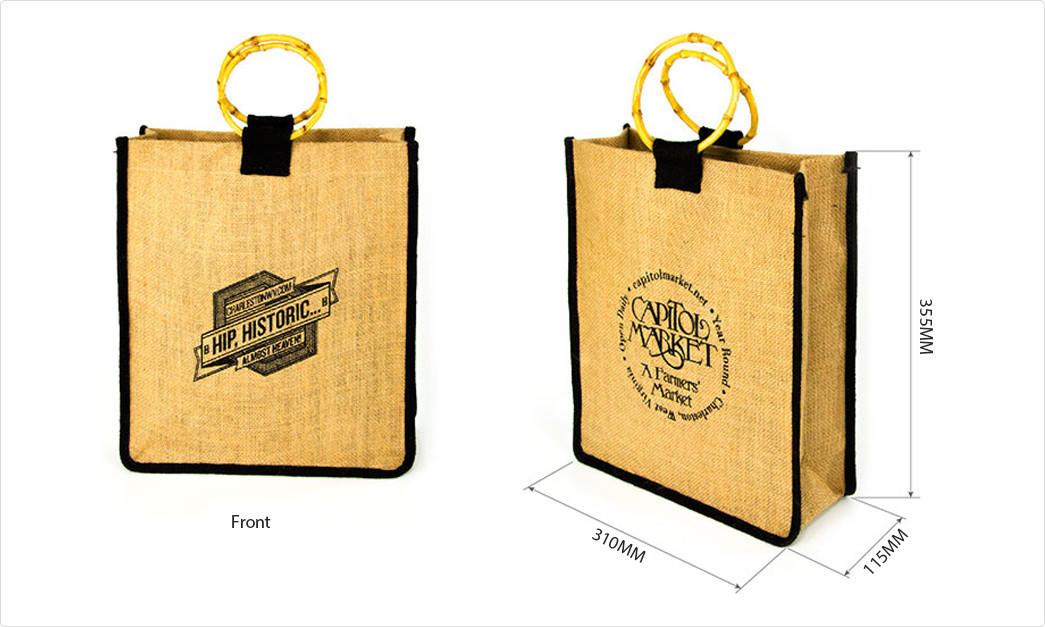 Yonghuajie new arrival jute sack jute shopping bag free sample for wine-1